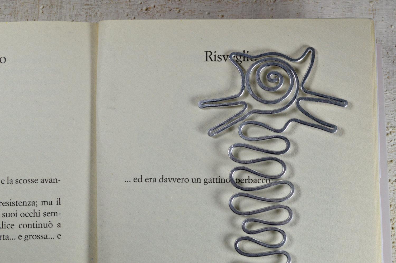 CAT BOOKMARK Handmade Aluminium bookmark metal bookmark cute book mark a gift fo