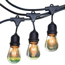 RZSAIDA Light Outdoor String Lights 48 ft Thick Bulb with Hanging Socket... - $60.86