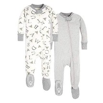 Burt's Bees Baby - Unisex Baby (3-6 Months|2-Pack|A-bee-c/Stripes 2-pack)