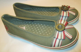 Skechers Cali Womens 6.5 M Slip On Green Ballet Flats w/ Arch Support,Fr... - $14.83