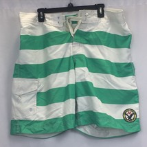 Mens XL Striped American Eagle Swimming Trunks/Shorts - $11.21