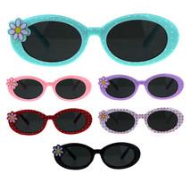Girls Childern Size Oval Thick Plastic Flower Polka Dot Sunglasses - $9.95