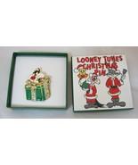 Older Warner Brothers Looney Tunes Christmas Pin Sylvester MIB NICE! T24 - $44.55