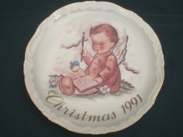 A MESSAGE FROM ABOVE Collector Plate SCHMID HUMMEL 1991 Christmas VERY L... - $15.00