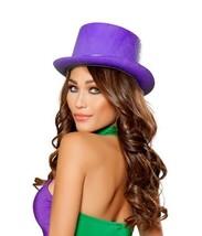 Purple Velvet Top Hat Wonka Mardi Gras Pimp Riddler Burlesque Costume H1... - $13.36