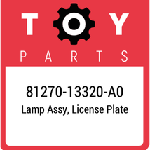 81270-13320-A0 Toyota Lamp Assy License, New Genuine OEM Part - $100.79