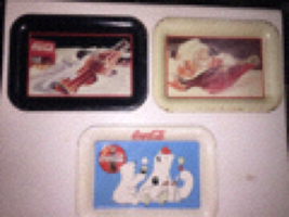Lot Of 3 Vintage Coca Cola Mini Coin Trays - $18.00
