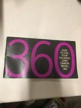 Polaroid 360 Land Camera instructions Guide Manual English 60 Pages Illu... - $9.89