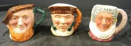 3 Antique Lancaster Toby Character Jugs - Scottie * Highway Man * Queen - $6.65