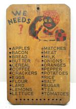 "V.Cool Vintage 1950s Memorabilia Shopping List Wooden Ped Board 7""x11"" W... - $37.86"
