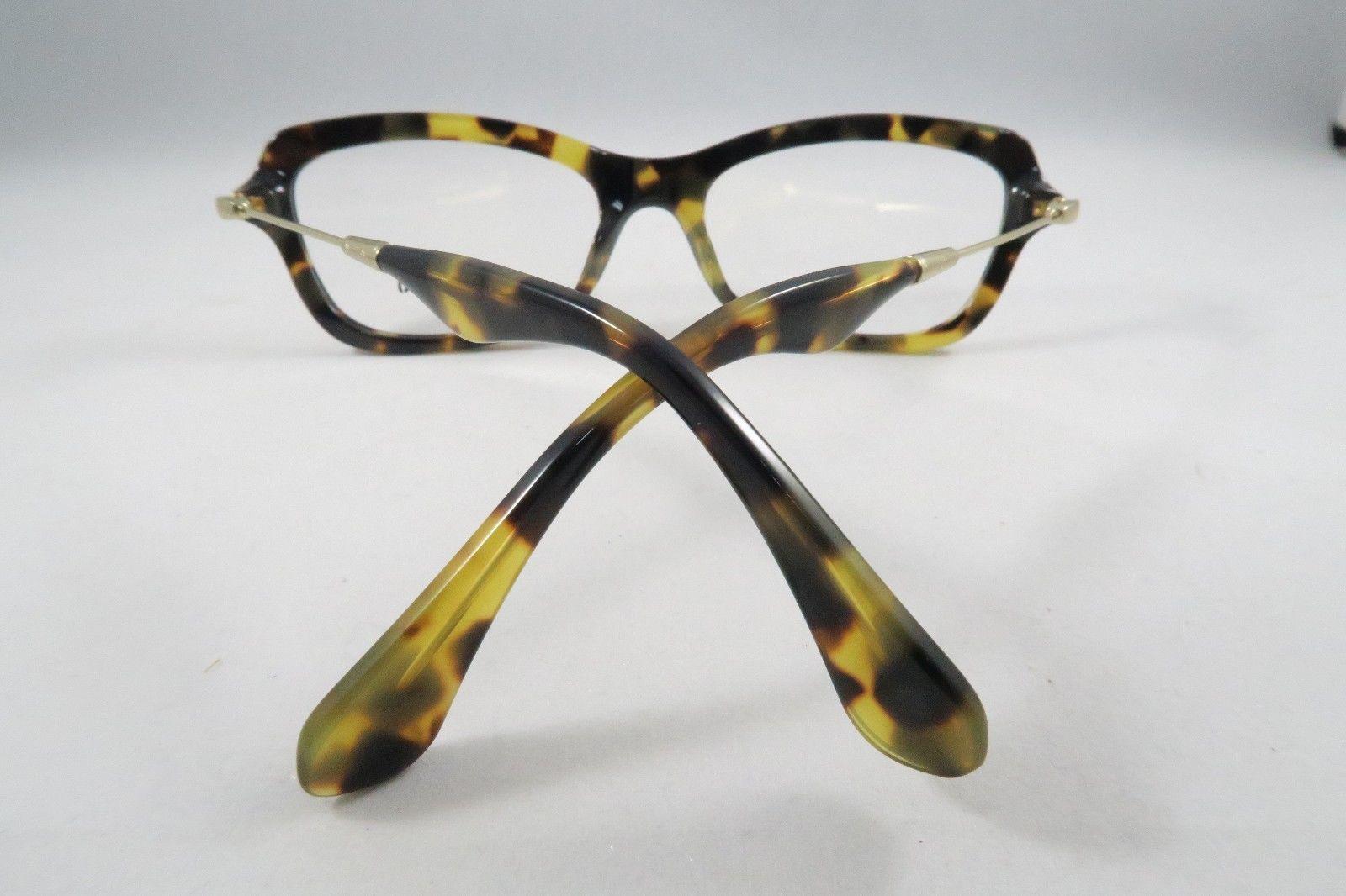26db57d74c9c Miu Miu VMU 06L 7S0-1O1 Tortoise Spotted   Gold New Eyeglasses 54mm - 59