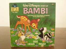 Bambi - Disney See Hear Read Paperback Book with Record - $13.50