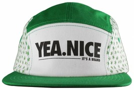 Yea Nice Planted Plantlife Weed Marijuana 5 Panel Strapback Baseball Cap Hat NWT image 1