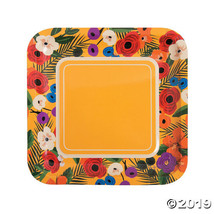 Cuban Party Square Paper Dinner Plates - $7.00