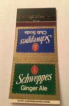 Matchbook Cover Matchcover Schweppes Ginger Ale & Club Soda - $1.96