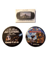 Mario Baseball / PSP / Star Wars Set of (3) Promotional Pin Back Buttons... - $4.88
