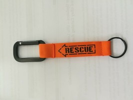 RESCUE Keychain Embroidered Fabric Screen Keyring Color BACK Keychain - $8.60