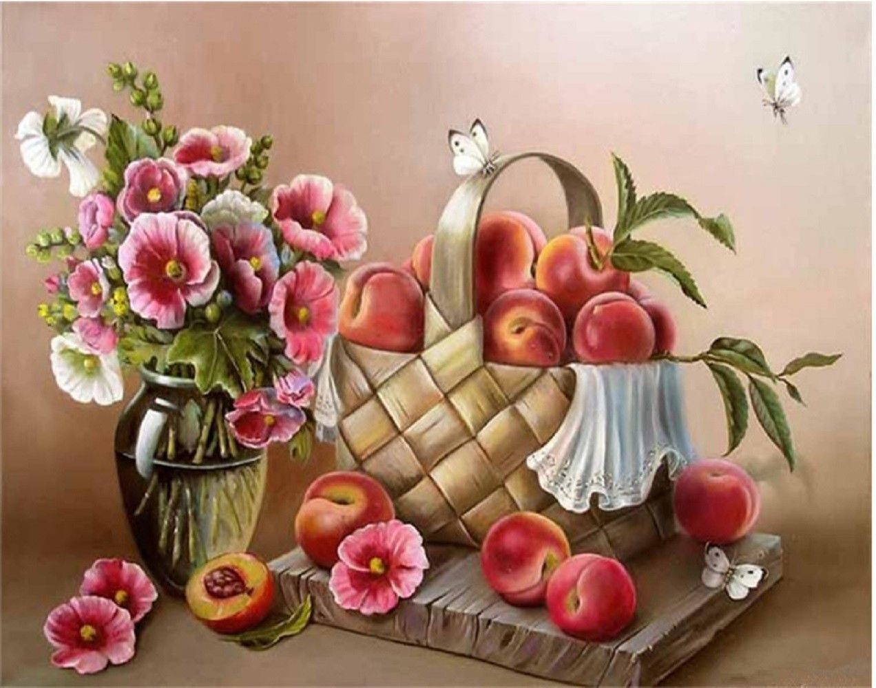 "Flower Fruit 16X20"" Paint By Number Kit DIY Acrylic Painting on Canvas Unframed"