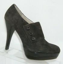 Franco Sarto 'Tamara' brown suede button slip on platform bootie heels 6.5M - $37.04