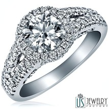 2.00 CT (1.00) F-VS2 NEW ROUND CUT DIAMOND ENGAGEMENT RING 14K WHITE GOLD - €4.603,09 EUR
