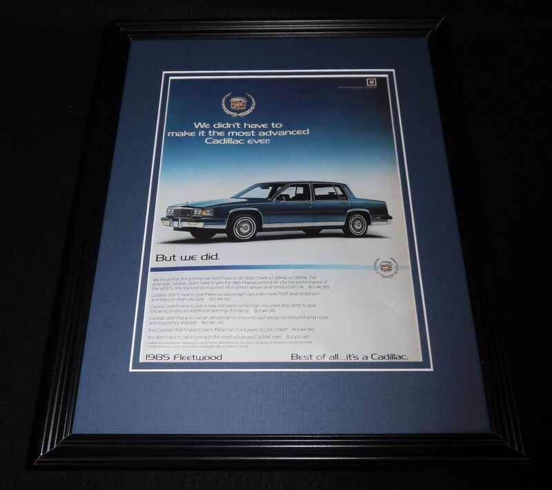 Primary image for 1984 Cadillac Fleetwood 11x14 Framed ORIGINAL Vintage Advertisement
