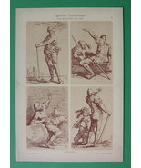 FIGURES Drawing for Artists by Salvatore Rosa - Tinted Litho Print - $9.79