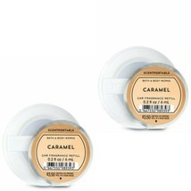 2 Bath & Body Works Scentportable CARAMEL Car Fragrance Refills - $12.19