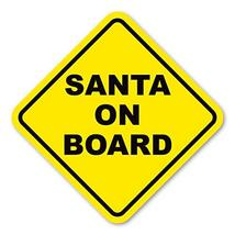 Crazy Novelty Guy Magnet, Diamond Magnet, Santa On Board, Christmas, San... - $6.99