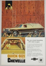 1967 Print Ad Chevelle Concours Custom Station Wagons Chevrolet Barn - $12.85