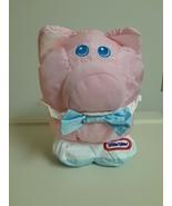 Little Tikes Pink Pig Nylon Plush Baby Toy Vintage 1993 Rattle Machine W... - $24.70