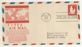 1956 UC25 FIPEX Air Mail First Day Cover! Fifth Intl Philatelic Exhibiti... - $3.95