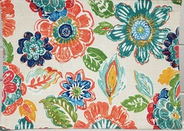 "Set of 4 Same Printed Fabric Placemats (13"" x 18"") COLORFUL FLOWERS, BM - $19.79"