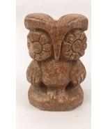 """Vtg composite/stone resin owl 4 1/4"""" tall Flat Back - $8.56"""