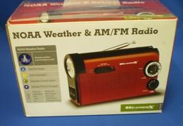 NOAA Weather AM/FM Radio New in Box, Flashlight, Hand Crank or Batteries - $25.69