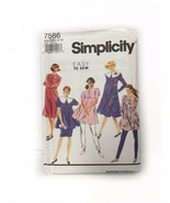 Simplicity 7586 Maternity Pants Skirt Dress Or Tunic Vintage Sewing Pattern - $11.87