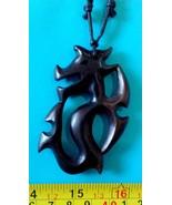 1 dragon pendant Philippine made by Ifugao Filipino tribal Kamagong nec... - $8.42