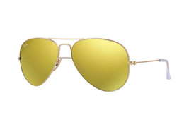 Ray Ban Sunglasses Aviator RB3025 112/93 Matte Gold  Frame w/Gold Mirrored lens - $109.95