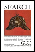 Sherlock Holmes Hat Art Print Ad 1965 GT&E Telephone Electronics Adverti... - $14.99