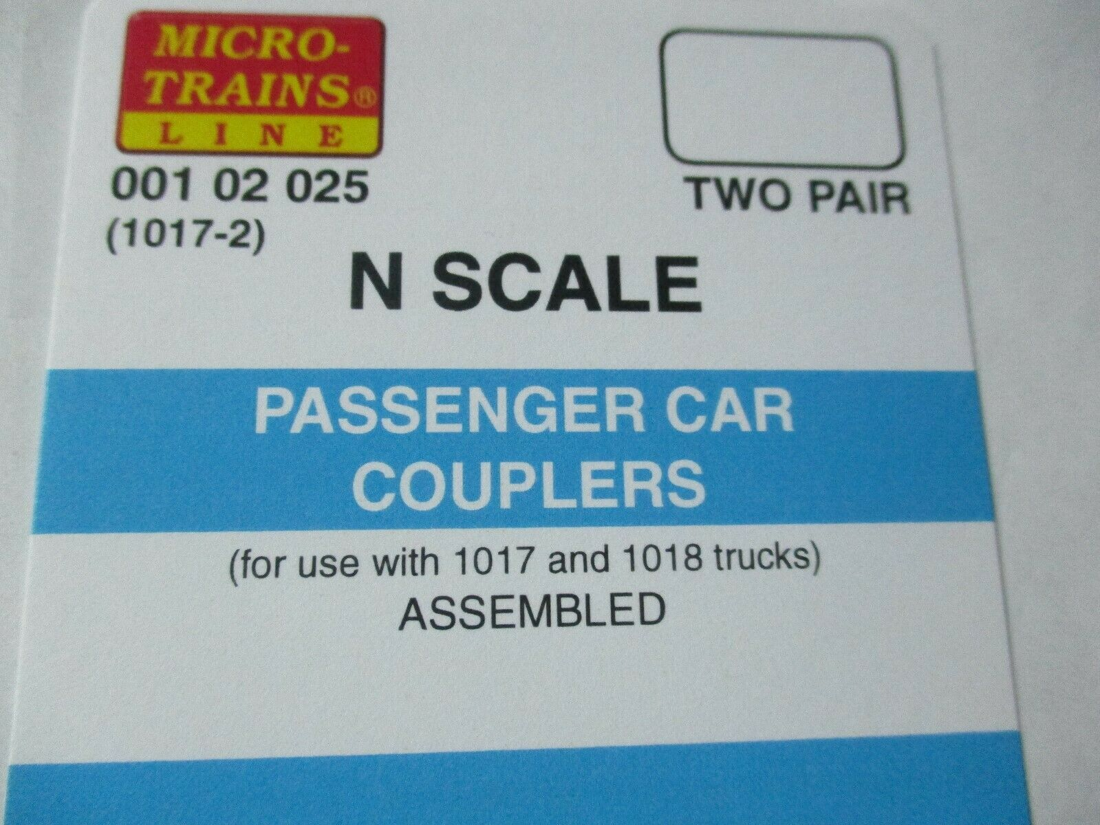 Micro-Trains Stock #00102025 Passenger Car Couplers Black for 1017 & 1018 Truck