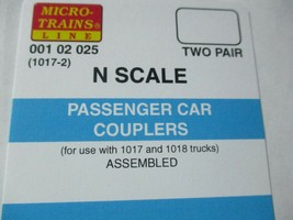 Micro-Trains Stock #00102025 Passenger Car Couplers Black for 1017 & 1018 Truck image 1
