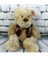 "Sweetheart Lg. 22"" Lotsa Love Teddy Bear Plush Stuff Codified Bear Brown... - $17.81"