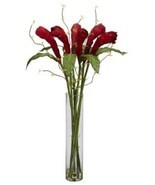 Ginger Torch With Cylinder Vase Silk Flower Arrangement - $135.58
