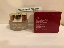 Clarins Extra-Comfort Anti-Aging Foundation 1.1 oz #113 Chestnut Spf 15 NIB - $19.79
