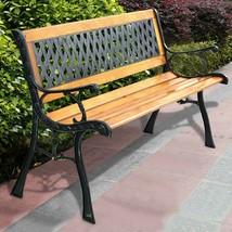 Outdoor Cast Iron Patio Park Garden Porch Chair Bench Lawn Deck - €98,78 EUR
