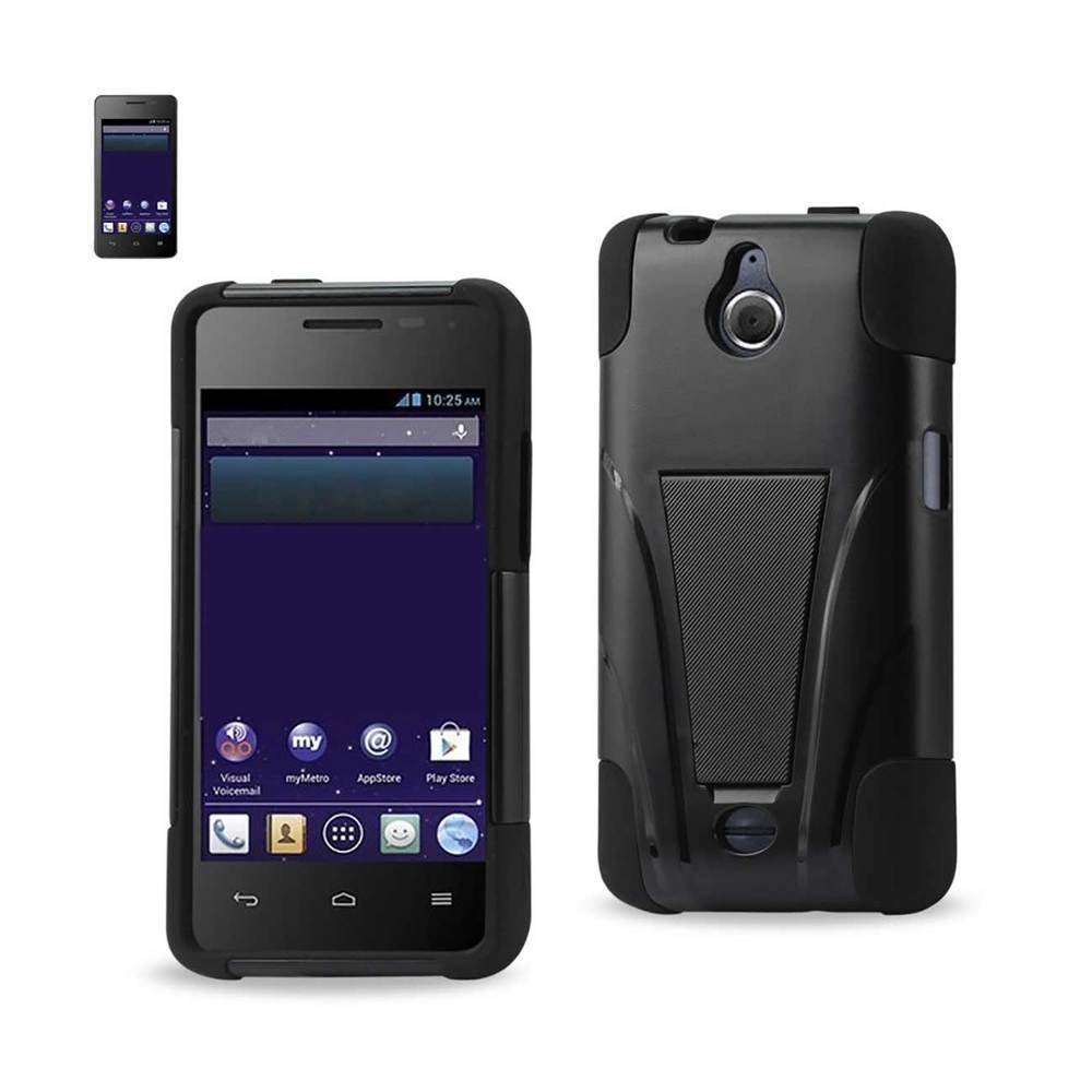 REIKO HUAWEI VALIANT HYBRID HEAVY DUTY CASE WITH KICKSTAND IN BLACK