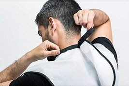 Beard Catcher Bib Apron Beard Cape for Shaving-Hair Clippings Catcher & Grooming image 5