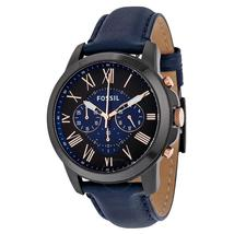 Fossil Grant Chronograph Black and Blue Dial Men's Watch FS5061 - $129.50