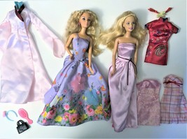 Mattel Barbie Doll Set of 2 Dolls Blonde Hair, Clothes, Shoes Pre-owned  - $22.76