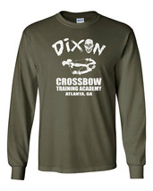 595 Dixon Crossbow Academy Long Sleeve Shirt zombie daryl tv show funny costume - $18.00+