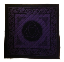 "TRIQUETRA CIRCLE OF LIFE YOGA PILATES MEDITATION SIT MAT CUSHION 24""X24""... - $24.95"